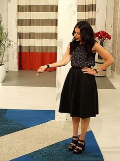 Stacy London's outfit on her new show, Love Lust or Run