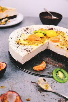 Cheesecake tutti frutti #vegan #sansgluten #cru Tutti Frutti, Sans Gluten, Gluten Free, Saveur, Vegan Vegetarian, Healthy Life, Vegan Recipes, Sweets, Cooking