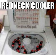 Redneck Humor So this is why the washers end up on the front porch- I wondered about that for years.