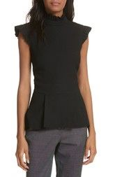 Ted Baker London Ruffle Neck Peplum Top available at #Nordstrom