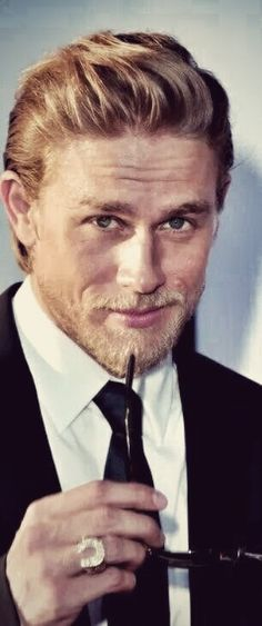 Charlie Hunnam - he is just so handsome and I really prefer dark hair and eyes .
