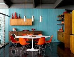 Complementary: This color scheme of orange and blue is a very popular complementary combination.