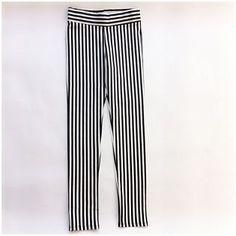 Legging rayas   Legging blanco y negro