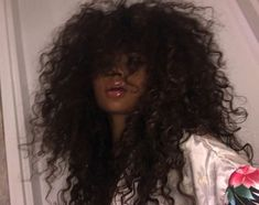 No photo description available. Black Girls Hairstyles, Pretty Hairstyles, Curly Hair Styles, Natural Hair Styles, Pelo Afro, Hair Reference, Aesthetic Hair, Curly Girl, Hair Looks