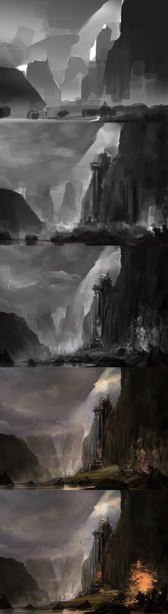 Scene of the original painting big step _JA- Cong -CK_ Sina blog via cgpin.com