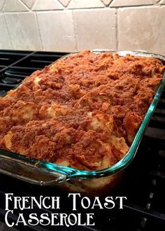 Sharing the top Pioneer Woman recipes with you. The Pioneer Woman Ree Drummond, is a sweet lady constantly making the world drool with her delicious recipes Crockpot French Toast, Oven French Toast, Baked French Toast Casserole, Breakfast Desayunos, Breakfast Dishes, Breakfast Recipes, Breakfast Ideas, Pain Perdu Simple, Food Network Recipes