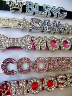 Dog collar with a little bling