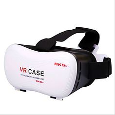Ugetde 3D VR Glasses Virtual Reality Headset VR Case Stereo Vision Suitable for Google, iPhone, Samsung Note, LG, Huawei, HTC, Moto screen smartphone within 5.8inch. Durable and adjustable T-shaped straps make it possible to fit different group of people, from children to adults, what's more, the soft padding in front of the vr cardboard also make it comfortable to wear. Easy to put your smart phone into the VR BOX - Easily open the smart phone storage box, then put your smart phone in…