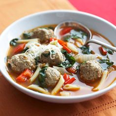 Second Course : Soup ( Non Veg)  Italian wedding soup is a popular Italian American soup, consisting of green vegetables and meat. #Italianweddingsoup #Soup #Summer2014