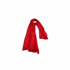 Echarpe Listrada Vermelha de Seda #echarpes #lenços #lenço #scarf #scarfs