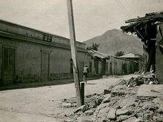 Terremoto año 1918. Calle Maipú.