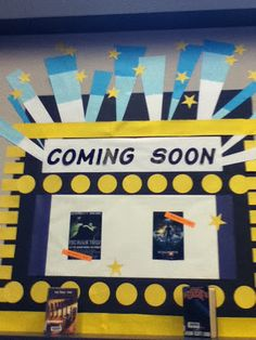 Movie Tie-In Display at DCG Middle School Library
