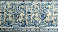Azulejos de Portugal da telha de mosaico de Macau Fotografia de Stock