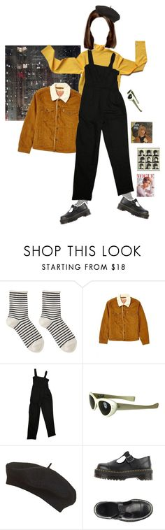 """""""Big city. Bigger dreams."""" by frankooliiiii ❤ liked on Polyvore featuring Hansel from Basel, Levi's, ASOS, Topshop and Dr. Martens"""