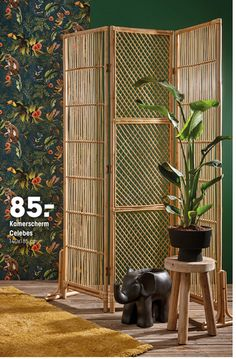 Kamerscherm Celebes Folding Screen Room Divider, Diy Room Divider, Moroccan Home Decor, Moroccan Design, Cute Furniture, Handmade Furniture, Creative Wall Decor, Small Apartment Interior, Rustic Patio
