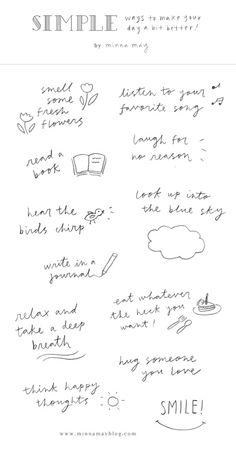 Easy little tricks to brighten your day!