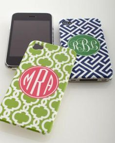 monogramed iPhone covers