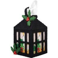 Herrschners® Christmas Lantern Tissue Box Cover Plastic Canvas Kit