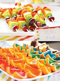 Bright and Modern Rainbow Party // Hostess with the Mostess®