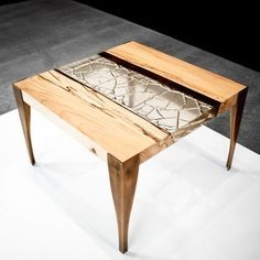 Though I would never spend so much on a table, I really do like the design and that Mr. Houshmand salvages his wood from urban construction sites.