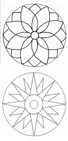 Simple Mandala Art Pattern And Designs – All Image New Mandala Art, Mandala Painting, Mandala Pattern, Dot Painting, Mandala Design, Pattern Art, Stained Glass Patterns, Mosaic Patterns, Embroidery Patterns