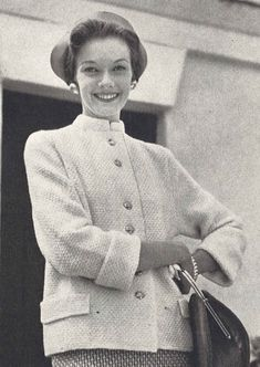 This vintage 1950s womans cardigan jacket knitting pattern is from Vogue Knitting Spring/Summer 1954 magazine.  ★  This pattern is designed for the following sizes:  • bust 32 • bust 34 • bust 36  Gauge: 22 st = 4 in pattern in worsted weight (8 ply) yarn  ★  This pattern is a digital download and is delivered to you immediately upon receipt of payment.  ★  Sale!  Two patterns for $7 with code: 2FOR7 Three patterns for $9 with code: 3FOR9 Five patterns for $13 with code: 5FOR13