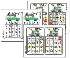 Car Bingo Printables.  Saw this on KSL's Studio 5 this week.  Decided to use it for our first trip of the summer!