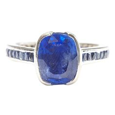 French Ceylon Sapphire Gold Ring | TrueFacet