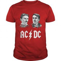 AC and DC Tesla and Edison US T Shirts, Hoodie. Shopping Online Now ==► https://www.sunfrog.com/Jobs/AC-amp-DC--Tesla-amp-Edison-US-137313192-Red-Guys.html?41382