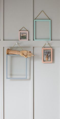 Create your own artful arrangement with these Hanging Floating Frames.