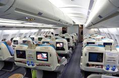 air tahiti nui business class cabin | boraboraphotos.com