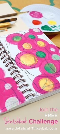 If you want to jump-start your creativity and start your art journal practice, join us for the FREE TinkerSketch Sketchbook Challenge in February 2015 at TinkerLab.com