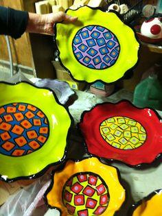 I love Beth's new ceramic plate and Bowl designs- I would love a whole set.  http://bethalli.wix.com/gripart#!__  http://www.etsy.com/shop/GripenstrawCeramics