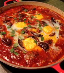 Don't come between a South African and his meat! We love these Venison Meatballs with Baby Eggplant.