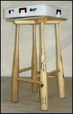 Baseball bat stool