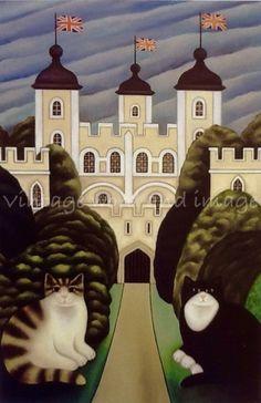 Tower of London Kittens by Martin Leman (b.1934)