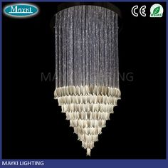 Multi-circle Pyramid fiber optic chandelier for wedding decoration