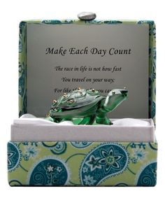 Look at this #zulilyfind! Green 'Make Each Day Count'' Turtle Figurine & Messenger Box by About Face Designs #zulilyfinds