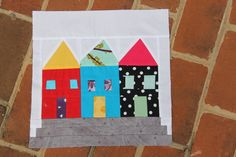 city house quilt block