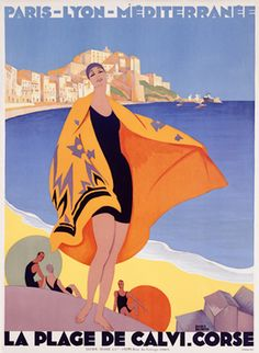 Art Deco travel poster by Roger Broders
