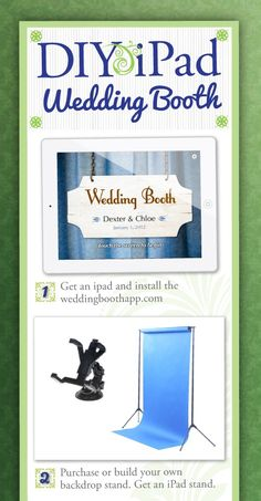 Emmaline Bride Weekend Edition - How to Make Your Own IPad Wedding Photo Booth (via since ~ by Lori Cole for California Bridal Eventz Diy Fotokabine, Event Planning, Wedding Planning, Dream Wedding, Wedding Day, Wedding Things, Wedding Bells, Wedding Stuff, Diy Photo Booth