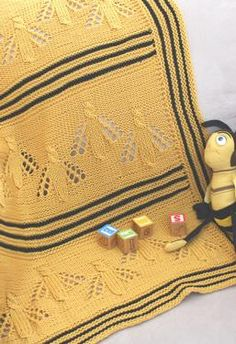 KNIT Busy Bee Baby Blanket