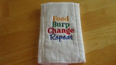 This burp cloth is made from a quality prefolded birdseye diaper. It measures approximately 17 x It has been prewashed before stitching to minimize shrinking. This burp cloth was made in a smoke free environment. Best Embroidery Machine, Machine Embroidery Projects, Learn Embroidery, Embroidery Applique, Embroidery Thread, Embroidery Ideas, Butterfly Embroidery, Baby Burp Cloths, Cloth Diapers