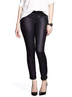 Slim Leg Coated Jeans from @reitmans winter 2014