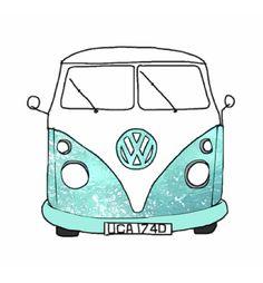 hippie van tumblr | Hippie Van Drawing Drawing picture blue sketch