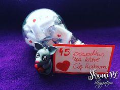 ShauniPL: 45 powodów.. z żarówką #żarówka #handmade #45powodów #love #polymerclay #mouse #bulb #45reasons
