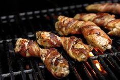 Bacon Wrapped Chicken Wings! http://www.yummly.com/blog/2013/08/bacon-wrapped-everything-for-international-bacon-day/