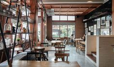 10 Trendy café with a beautiful view camera.