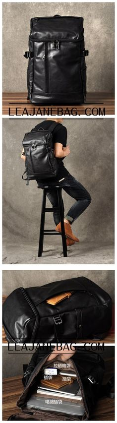 Mens Leather Backpack, Leather Rucksack, Travel Backpack, Laptop Backpack, Womens Backpack GZ035