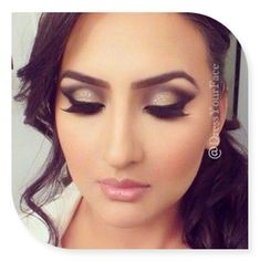 A little more bold bridal makeup